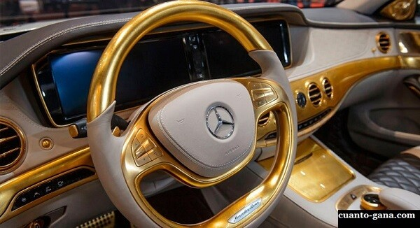 interior mercedes benz de oro